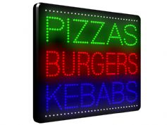 Pizzas Burgers Kebabs LED Sign (LDX-21)